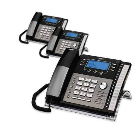 - RCA ViSys 25424RE1 4-Line Expandable System Phone with Call Waiting/Caller ID