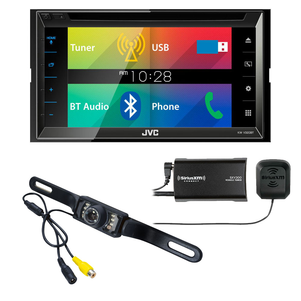 JVC KW-V320BT El Kameleon Receiver with Sirius XM Tuner & Back Up Camera by JVC