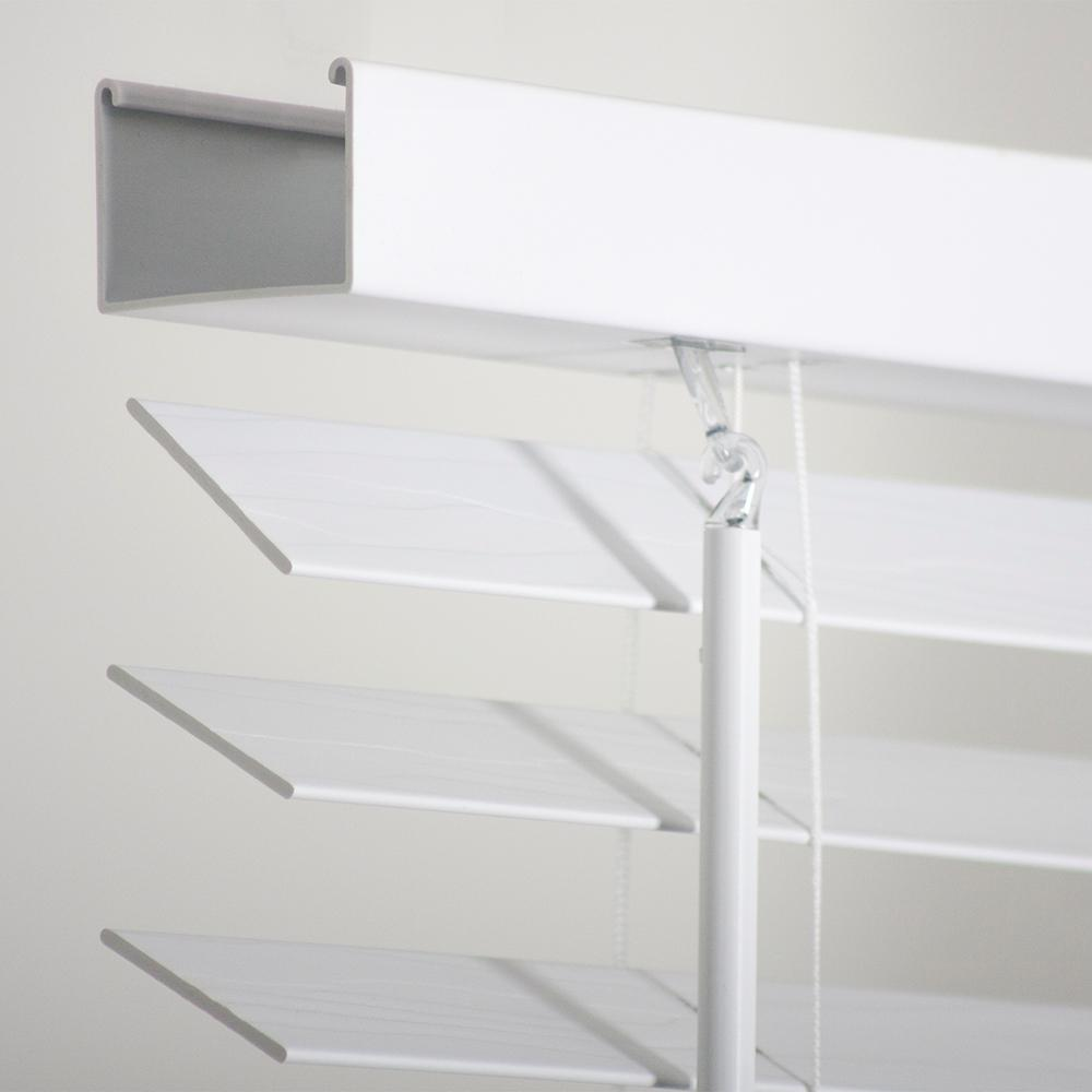 2 Pack Home Decorators White 2 In Faux Wood Blind 35 In W X 72 In L Actual Size 34 5 In W X 72 In L Walmart Com Walmart Com