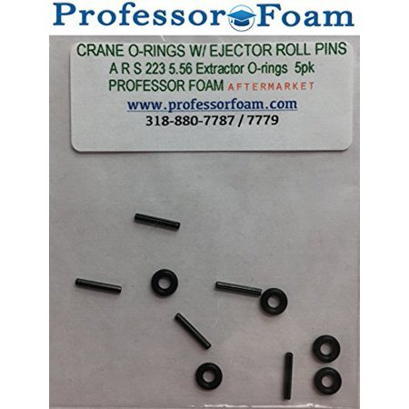 Professor Foam 223 5.56 Small Parts Kit Milspec Extractor O-ring (Crane O-ring ) and Ejector roll pin 5 pack