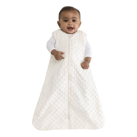 HALO SleepSack Wearable Blanket, Velboa, Cream Plush Dots, Small