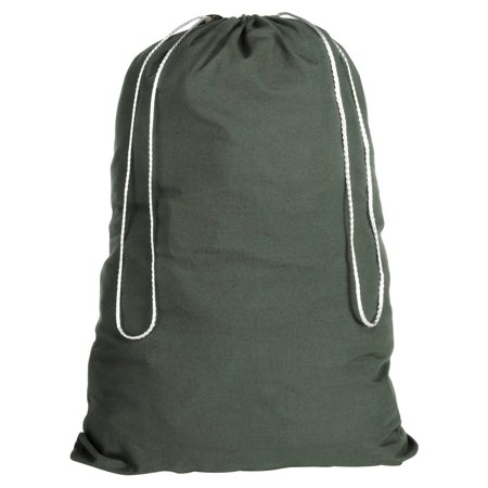 Whitmor Cotton Laundry Bag Duffel Green