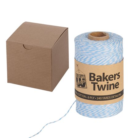 Twine And Box Packaging Bundle 1 Roll Of Bakers Twine 100 Kraft Gift Boxes