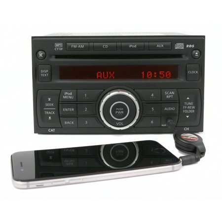 2010-12 Nissan Sentra Radio AM FM CD Aux Input Part Number 28185 ZT50A ID CY13F -