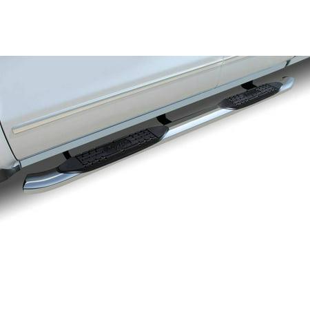 "Raptor Series 2010-2018 Dodge Ram 2500 3500 Mega Cab Polished Stainless Steel Cab Mount 4"" OE Style Curved Oval Step Bars 1502-0492"
