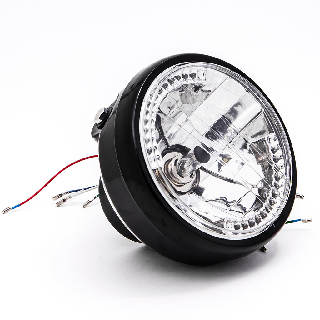 Krator 6.75'' Black Headlight + Turn Signals LED H4 Bulb for Harley Davidson Street Glide - image 6 of 9