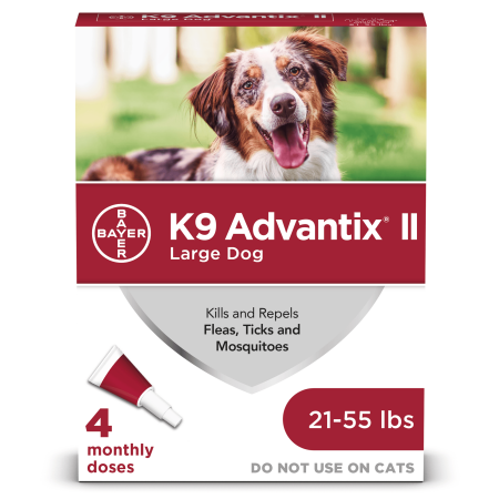 K9 Advantix II Flea and Tick Treatment for Large Dogs, 4 Monthly