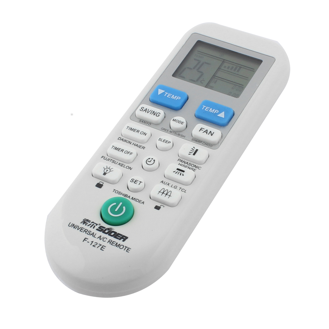 F-127E Replacement Air Conditioner Universal A/C Remote Control