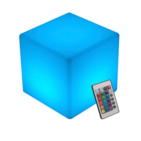 INNOKA LED Cube Light Waterproof & Cordless Glow Cube Rechargeable RGB Multi Color Changing Garden Pool Outdoor Home Bedroom Patio Party Wedding Decorative Holiday Night Relaxing Mood Lamp with Remote