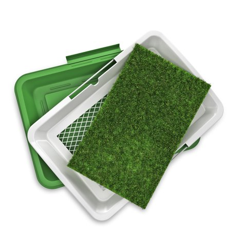 "Yippy Indoor Puppy Potty Trainer, Artificial Grass Bathroom Mat 18.5"" x 13"""