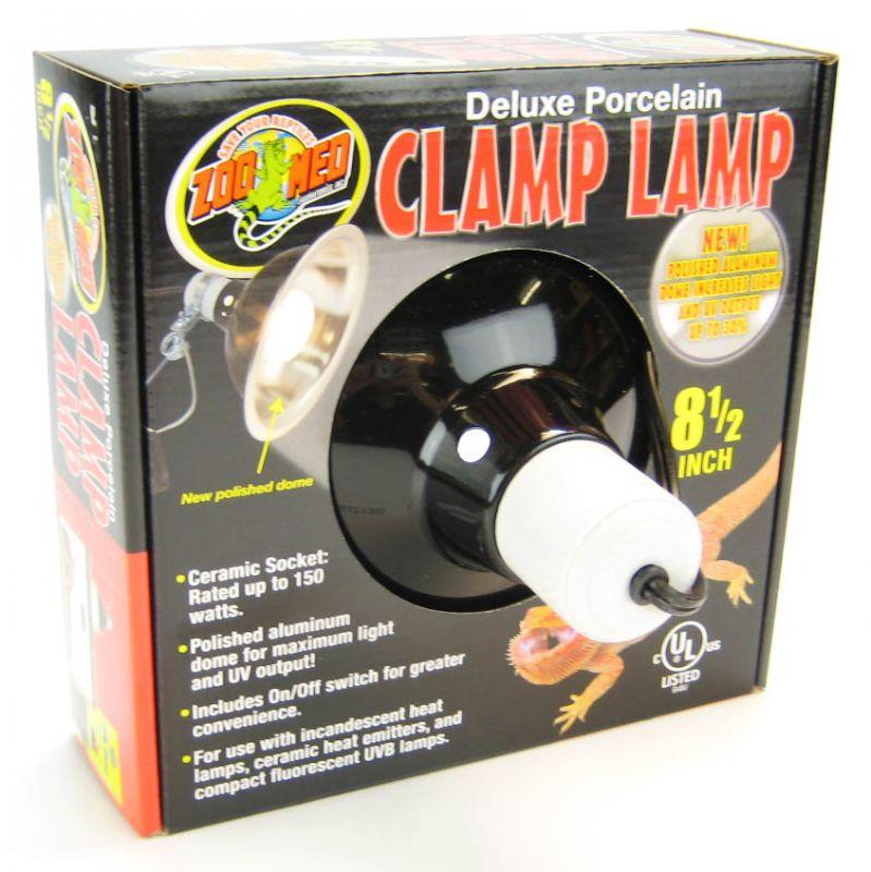 "Zoo Med Deluxe Porcelain Clamp Lamp 150 Watt - (8.5"" Diameter)"