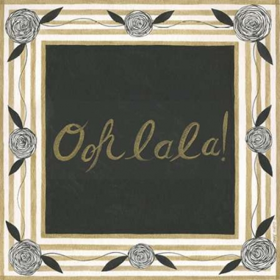 Ooh La La Rolled Canvas Art - Cindy Shamp (24 x 24)