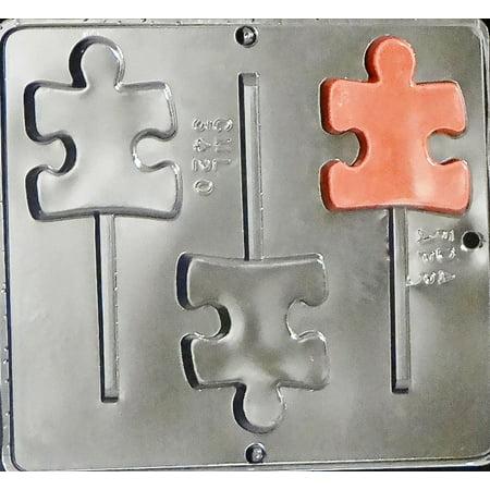 3420 Autism Symbol Puzzle Piece Lollipop Chocolate Candy