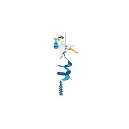 Stork It's A Boy Wind-Spinner Party Accessory (1 count) (1/Pkg)