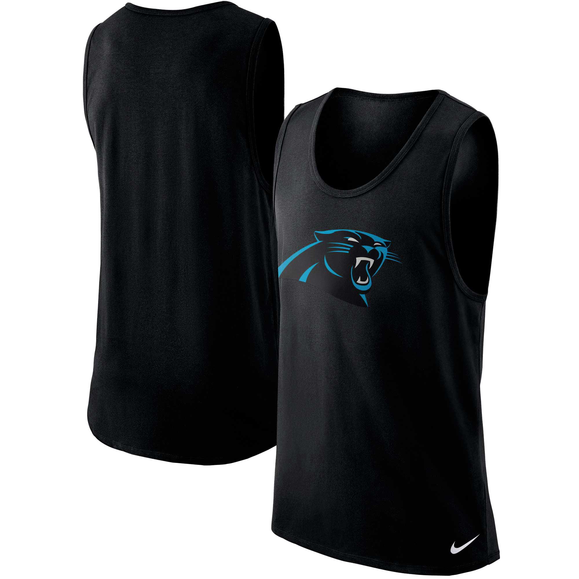 Carolina Panthers Nike Cotton Core Performance Tank Top - Black