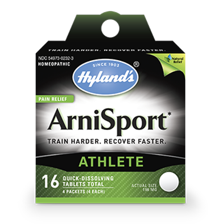Hyland's ArniSport Arnica Muscle Pain Relief for Post Workout Recovery, 16 Quick-Dissolving (Best Over The Counter Medicine For Post Nasal Drip)