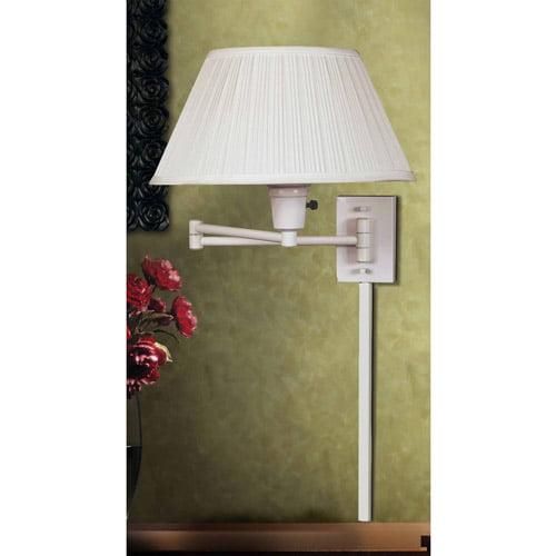 Kenroy Home KEH-30110WHWH-1 Wall Swing Arm Lamp by Kenroy Home