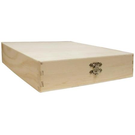 Darice Wood Unfinished Cigar Box 8 3 8X8 1 8