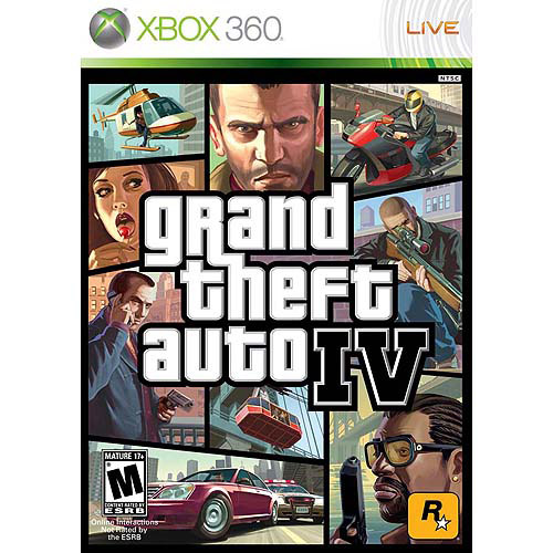 Grand Theft Auto IV, Rockstar Games, Xbox 360, 710425390128