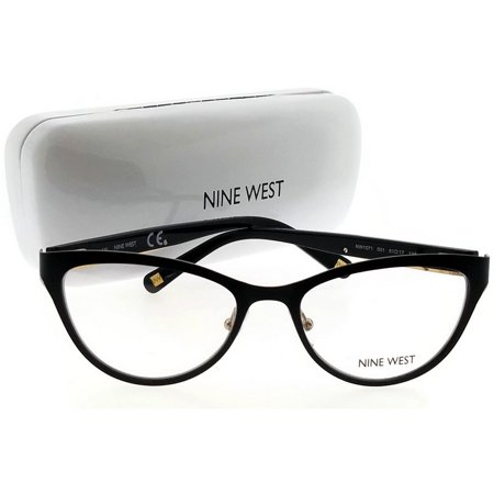 Nine West NW1071-001-51 Cat Eye Women's Black Frame Clear Lens Eyeglasses NWT ()