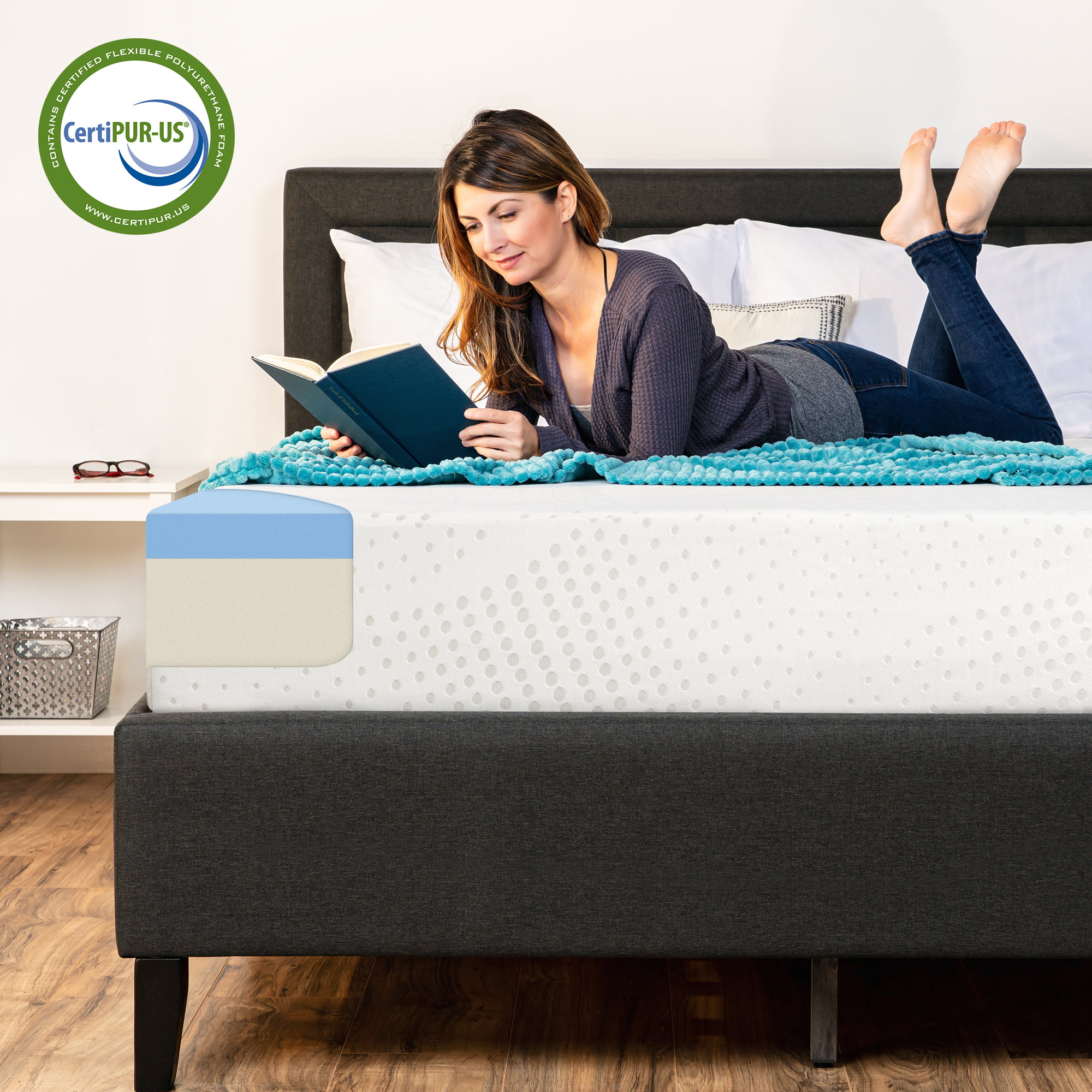 Best Choice Products 10in Twin Size Dual Layered Gel Memory Foam