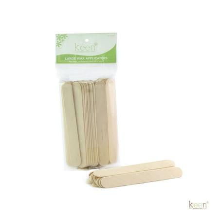 50 Large Keen Wooden Sticks Wax Applicators, Coffee Stir sticks, Crafts