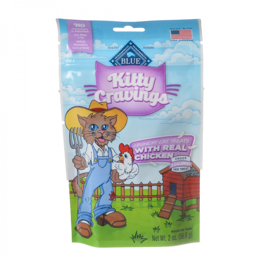Blue Buffalo Kitty Cravings Crunchy Cat Treats Real Chicken by