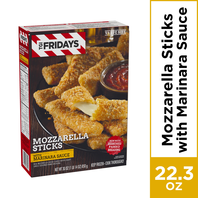 TGI Fridays Frozen Mozzarella Sticks with Marinara Sauce, Frozen