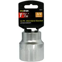 "3/4"" Drive 12 Point 1 11/16"" Socket Jumbo Size Torque SAE Dyna-Drive Pro Grade"