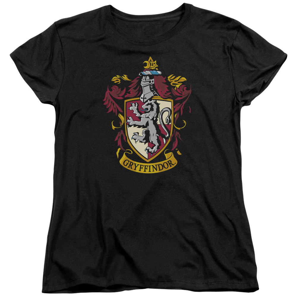 Harry Potter Gryffindor Crest Womens Short Sleeve Shirt