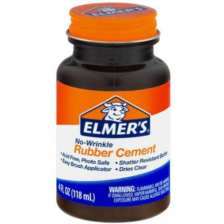 Elmer S No Wrinkle Rubber Cement Clear Brush Applicator