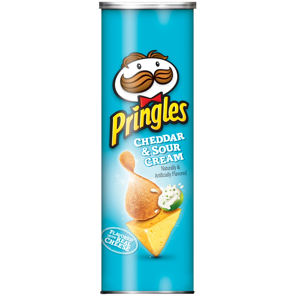 Pringles Cheddar & Sour Cream Potato Crisps Chips, 5.5 Oz