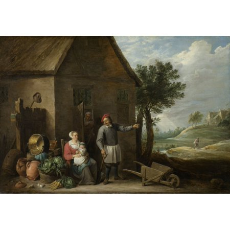 Peasant With His Wife And Child In Front Of The Farmhouse Poster Print](Peasant Boy)