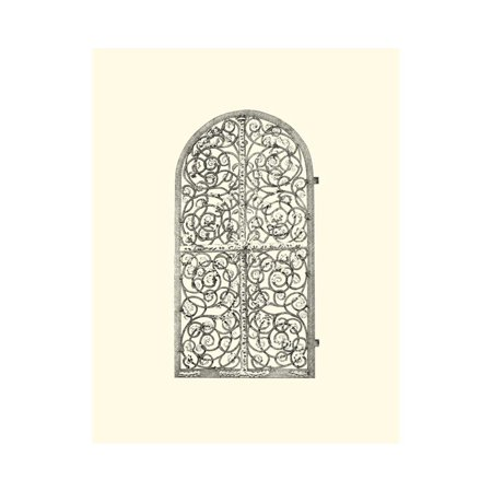 B&W Wrought Iron Gate VI Print Wall Art ()