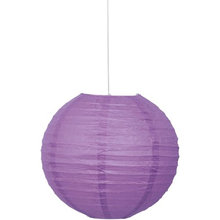 Round Paper Lantern, 10 in, Purple, 1ct](Purple Lantern)