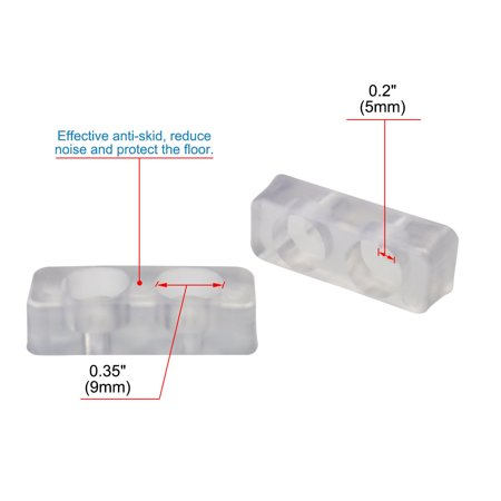 15pcs Rectangle Rubber Feet Pad Anti-scratch Desk Leg Floor Protector 40x15mm - image 1 de 7