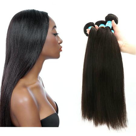 Unique Bargains Straight Human Hair Extension 14