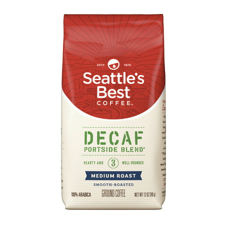 Seattle's Best Coffee Decaf Portside Blend (Previously Signature Blend No. 3) Medium Roast Ground Coffee, 12-Ounce