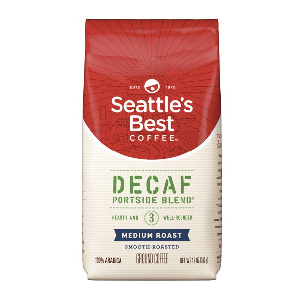 Seattles Best Coffee Decaf Portside Blend (Previously Signature Blend No. 3) Medium Roast Ground Coffee 12-Ounce Bag