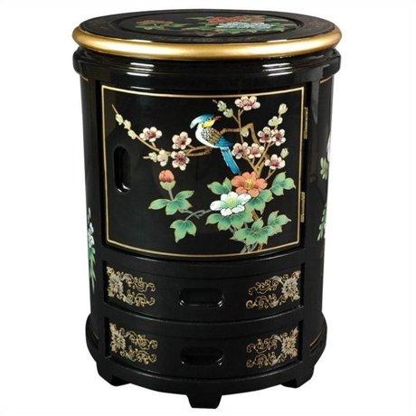 Oriental furniture japanese stool in black for Asian furniture emeryville ca