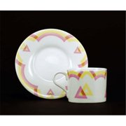 Euland China GE0-003T 8-Piece Cup And Saucer Set - Triangle