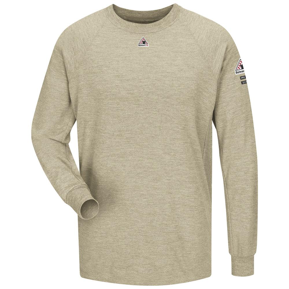 Bulwark FR Khaki Long Sleeve Performance T-Shirt