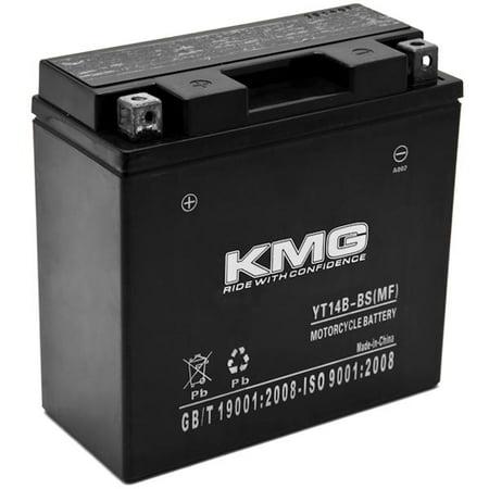 Kmg yt14b bs battery for yamaha 1700 xv17at road star for Yamaha motorcycle batteries