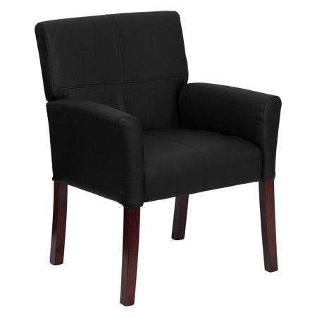 Flash Furniture Executive Side Chair or Reception Waiting Room Chair with Mahogany Legs