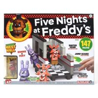 McFarlane Toys Five Nights at Freddy's FNAF West Hall Exclusive Construction Set with Bonnie and Foxy 147 Pieces