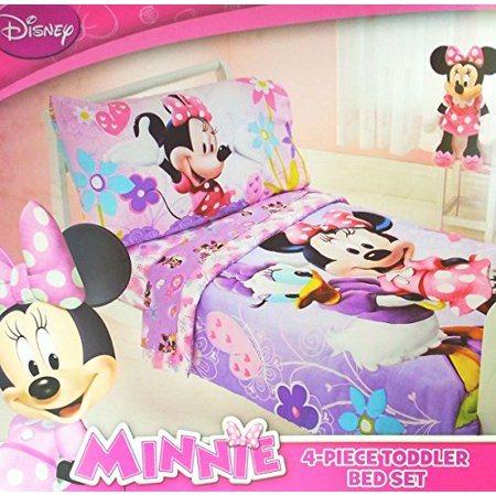 Disney Minnie Mouse 4 Piece Toddler Bedding Set