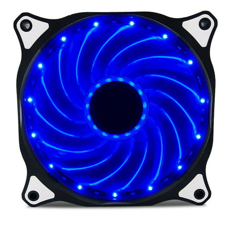 Vetroo 120mm Blue 15-LEDs Cooling Fan for Computer PC Cases, CPU Coolers and (Best Cpu Coolers For I7 7700k)
