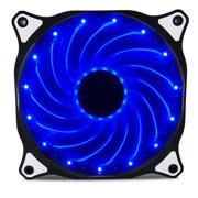 Vetroo 120mm Blue 15-LEDs Cooling Fan for Computer PC Cases, CPU Coolers and Radiators