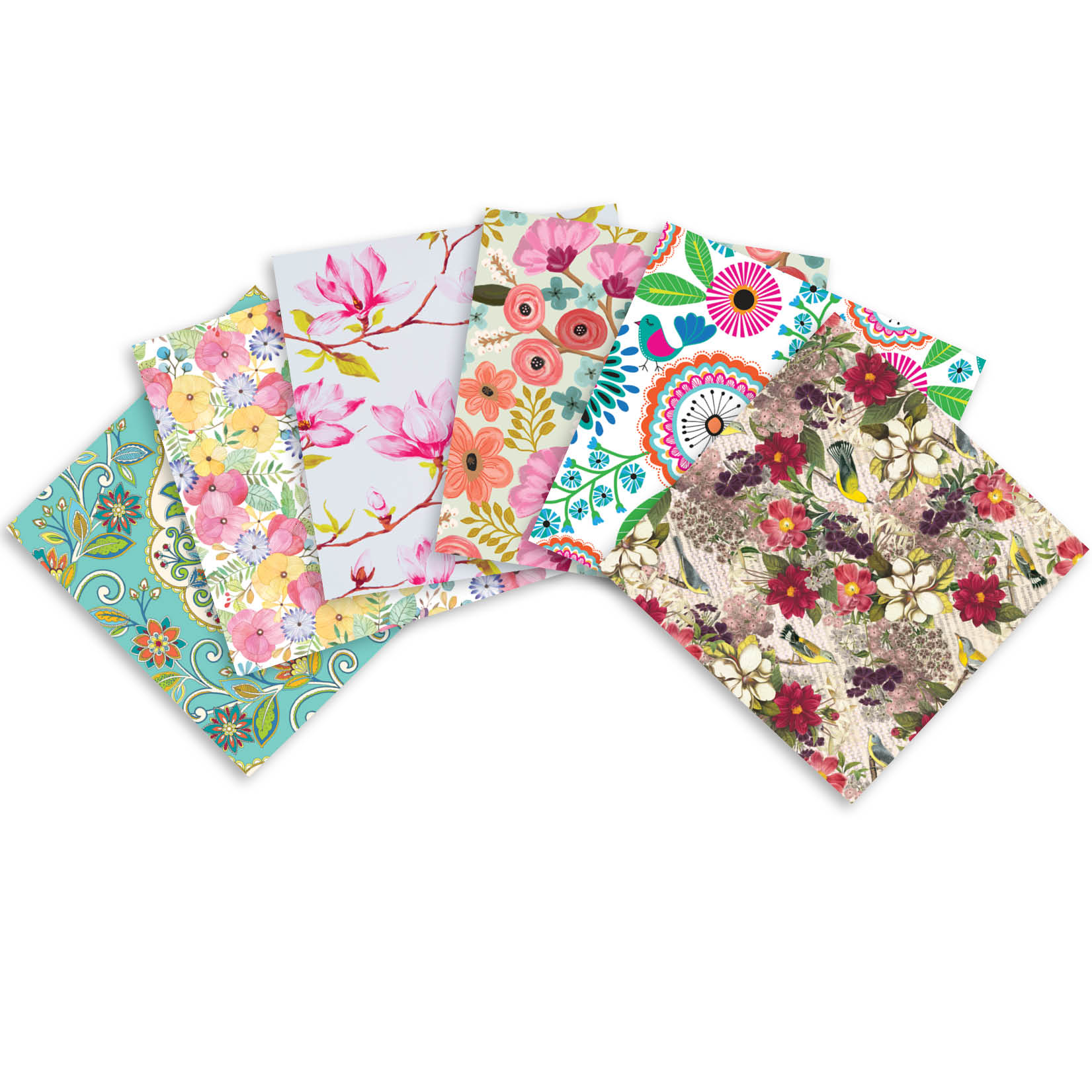 Jillson & Roberts Printed Gift Tissue Assortment, Floral Designs (24 Sheets)