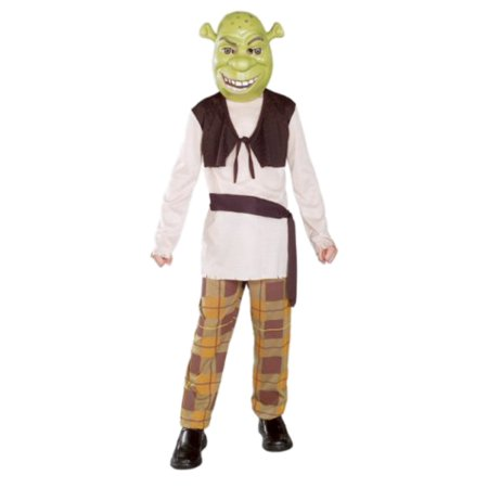 Shrek The Third Boys Halloween Costume Mask, Shirt with Vest, Pants, Sash](Halloween Songs For 3rd Graders)